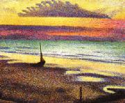 Georges Lemmen Beach at Heist oil painting picture wholesale
