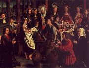 Gerard David The Marriage Feast at Cana oil painting artist