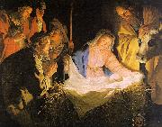 Gerrit van Honthorst Adoration of the Shepherds oil painting picture wholesale