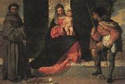 Giorgione The Virgin and Child with St.Anthony of Padua and Saint Roch oil painting picture wholesale