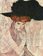 Gustav Klimt The Black Feather Hat oil painting picture wholesale