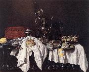 HEDA, Willem Claesz. Still-Life with Pie, Silver Ewer and Crab sg oil painting picture wholesale