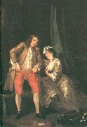 HOGARTH, William Before the Seduction and After sf oil painting artist