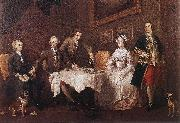 HOGARTH, William The Strode Family w oil painting artist