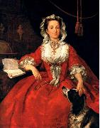 HOGARTH, William Portrait of Mary Edwards sf oil painting artist