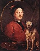 HOGARTH, William The Painter and his Pug f oil painting artist