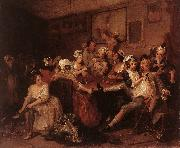 HOGARTH, William The Orgy f oil painting artist