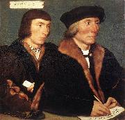 HOLBEIN, Hans the Younger Double Portrait of Sir Thomas Godsalve and His Son John oil painting artist
