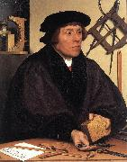 HOLBEIN, Hans the Younger Portrait of Nikolaus Kratzer gw oil painting artist