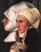 HOLBEIN, Hans the Younger Darmstadt Madonna (detail) sg oil painting artist