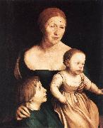 HOLBEIN, Hans the Younger The Artist's Family sf oil painting artist