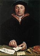 HOLBEIN, Hans the Younger Portrait of Dirk Tybis  fgbs oil painting artist
