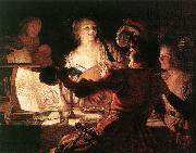 HONTHORST, Gerrit van The Prodigal Son af oil painting artist