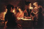 HONTHORST, Gerrit van Supper Party qr oil painting artist