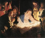 HONTHORST, Gerrit van Adoration of the Shepherds  sf oil painting picture wholesale