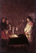 HONTHORST, Gerrit van Christ before the High Priest sg oil painting picture wholesale
