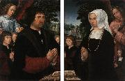 HORENBOUT, Gerard Portraits of Lieven van Pottelsberghe and his Wife sf oil painting picture wholesale