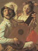Hendrick Terbrugghen The Duet-l oil painting artist