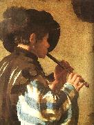 Hendrick Terbrugghen The Flute Player oil painting artist