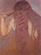 Henri Edmond Cross Woman Combing her Hair oil painting picture wholesale