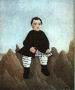 Henri Rousseau Boy on the Rocks oil painting picture wholesale