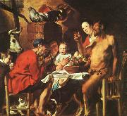 JORDAENS, Jacob Christ Driving the Merchants from the Temple zg oil painting artist