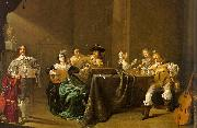 Jacob Duck Card Players and Merry Makers oil painting picture wholesale