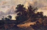 Jacob van Ruisdael Landscape with House in the Grove oil painting picture wholesale