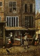 Jacobus Vrel Street Scene with Bakery oil painting artist