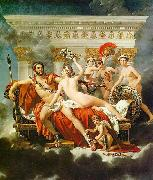 Jacques-Louis David Mars Disarmed by Venus and the Three Graces oil painting artist