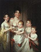 James Peale Madame Dubocq and her Children oil painting artist