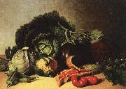 James Peale Still Life Balsam Apple and Vegetables oil painting artist