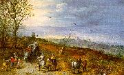 Jan Brueghel Wayside Encounter oil painting picture wholesale