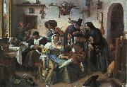 Jan Steen Beware of Luxury oil painting artist