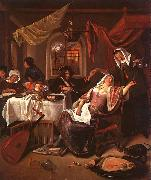 Jan Steen The Dissolute Household oil painting artist
