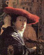 Jan Vermeer Girl with Red Hat oil painting picture wholesale