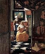 Jan Vermeer The Love Letter oil painting picture wholesale