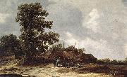 Jan van Goyen Farmyard with Haystack oil painting picture wholesale