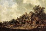 Jan van Goyen Peasant Huts with Sweep Well oil painting picture wholesale