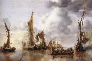 Jan van de Capelle The State Barge Saluted by the Home Fleet oil painting picture wholesale