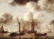 Jan van de Capelle Dutch Yacht Firing a Salvo oil painting picture wholesale