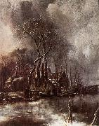 Jan van de Capelle Winter Landscape oil painting picture wholesale