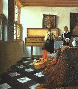 JanVermeer The Music Lesson-o oil painting picture wholesale