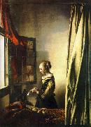 JanVermeer Girl Reading a Letter at an Open Window oil painting artist