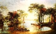Jasper Cropsey Sunset Sailing oil painting artist