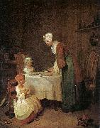 Jean Baptiste Simeon Chardin Grace before a Meal oil painting artist