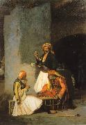 Jean Leon Gerome Arnauts Playing Chess oil painting picture wholesale