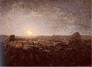 Jean-Franc Millet The Sheep Meadow Moonlight oil painting picture wholesale