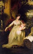 John Hoppner Lady Caroline Capel Holding her Daughter Harriet oil painting picture wholesale