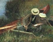 John Singer Sargent Paul Helleu Sketching With his Wife oil painting artist